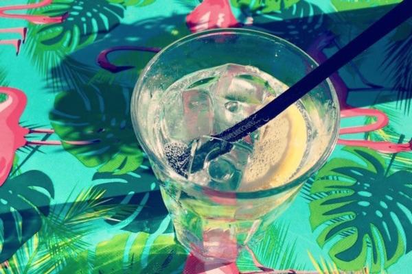 Drankje op terras