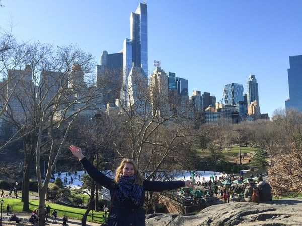 Central Park in winters New York