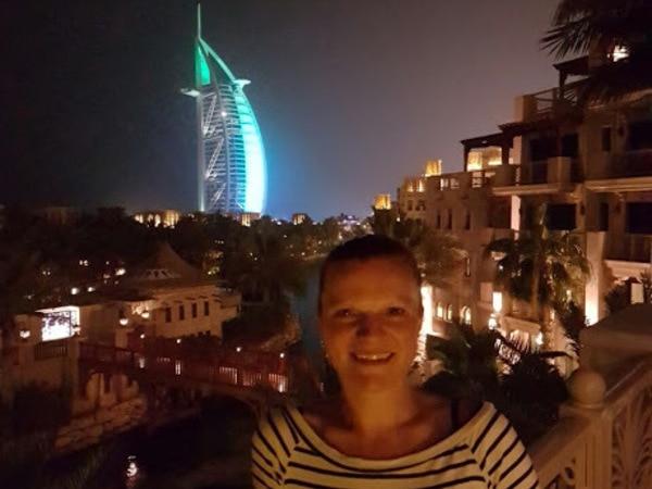 Loved by locals: Linda van der Wel met Burj Al Arab