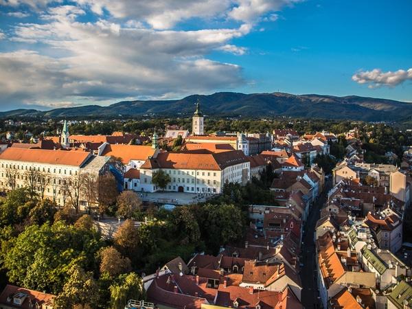 Romantische steden in Kroatië Zagreb