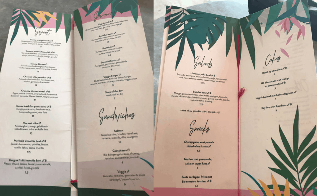 Cafe Martinus menu en prijzen