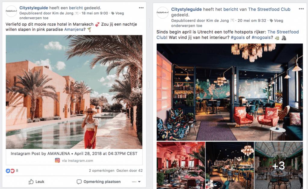 Facebookgroep voor reizigers