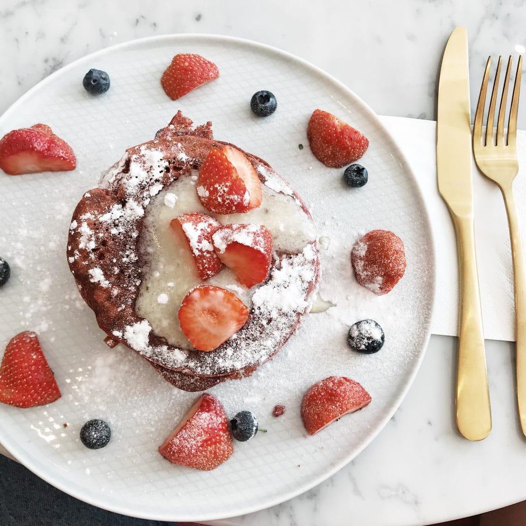 Red velvet pancakes Utrecht