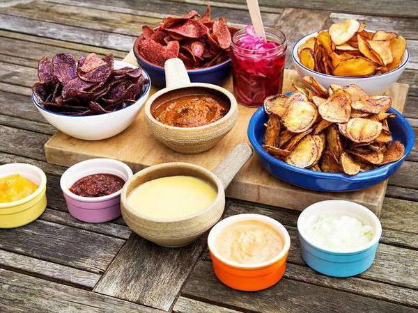Chips en dips van Hipchips in Londen