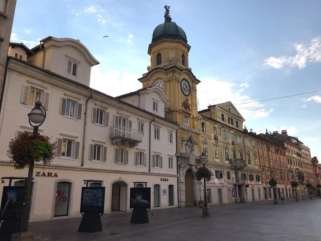 Hotspots Rijeka straten in de stad