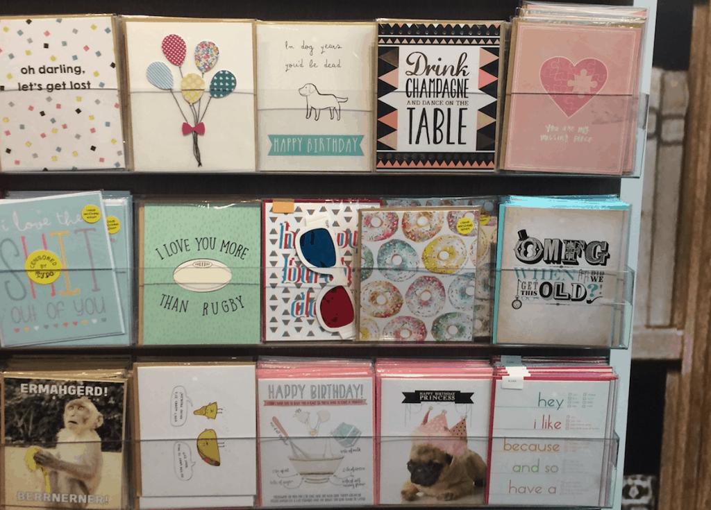 Kaartjes bij Typo Auckland lievelingswinkel Paperclear
