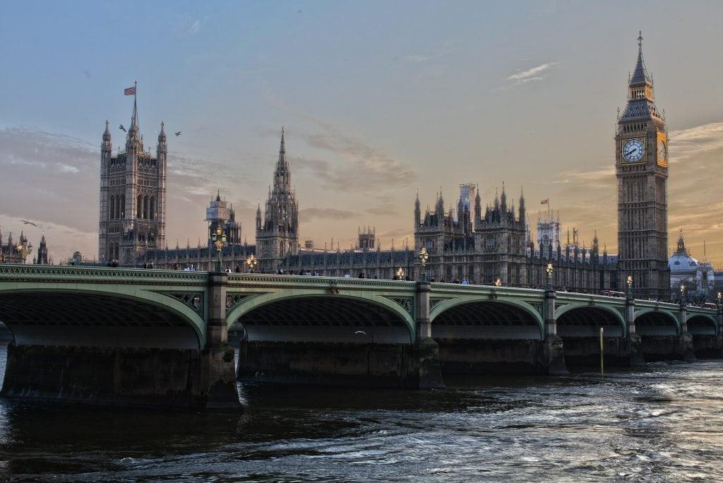 Londen brug uitzicht