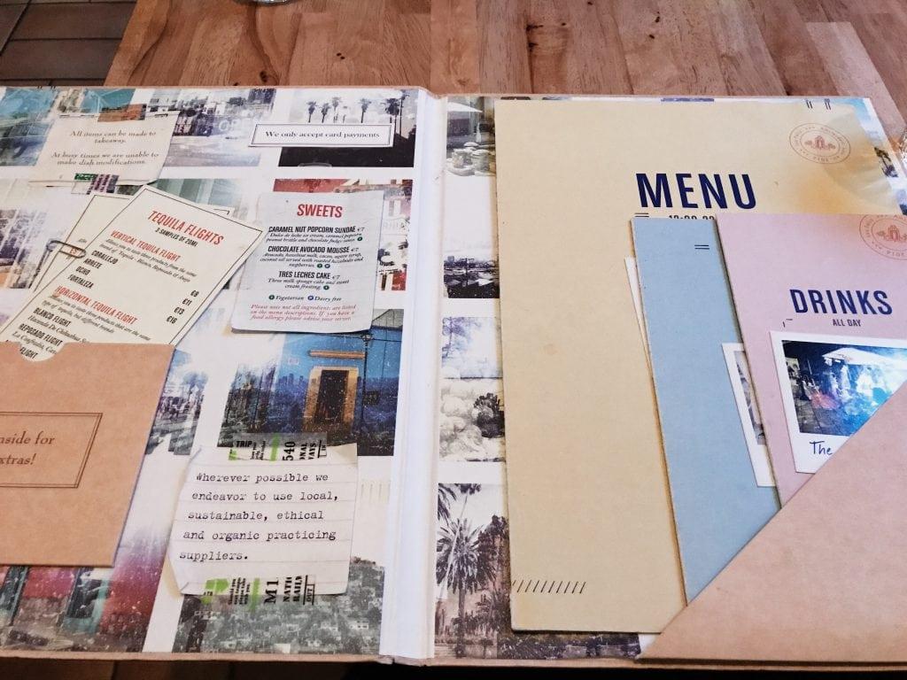 Menukaart Los Feliz Mexicaans restaurant