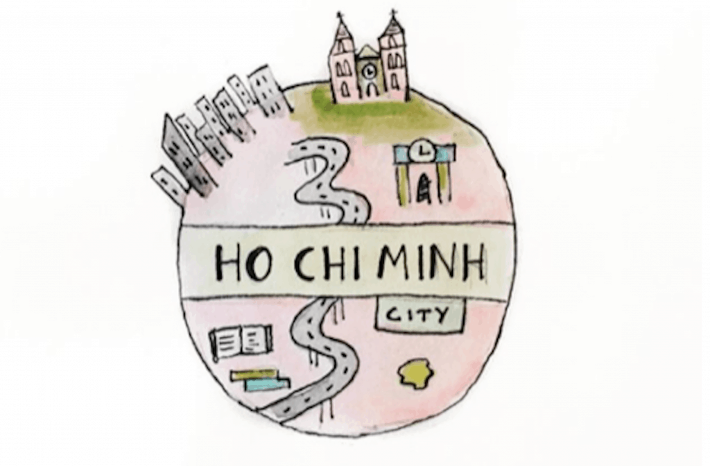 Paperclear tekening Ho Chi Minh van Layana