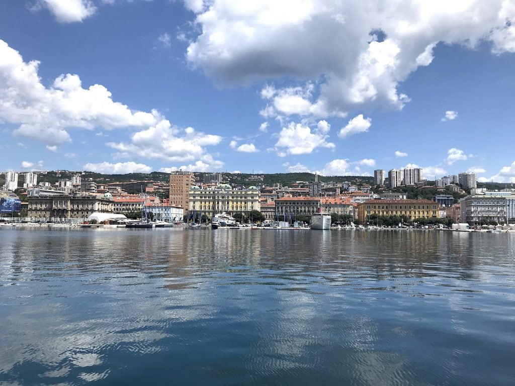 Rijeka haven Kroatie