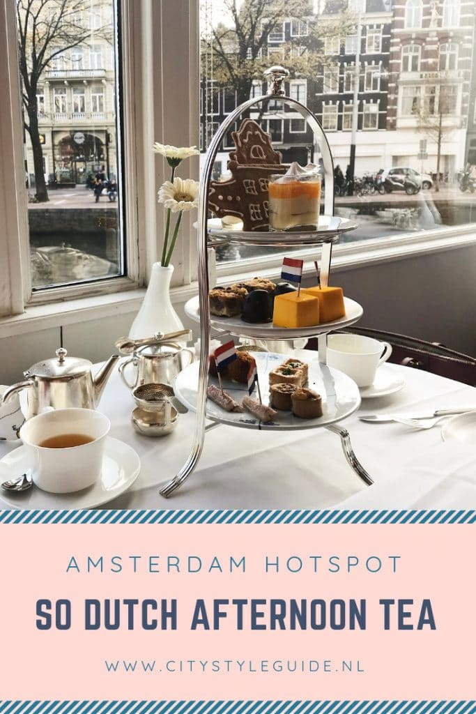 So Dutch Afternoon Tea uitzicht gracht