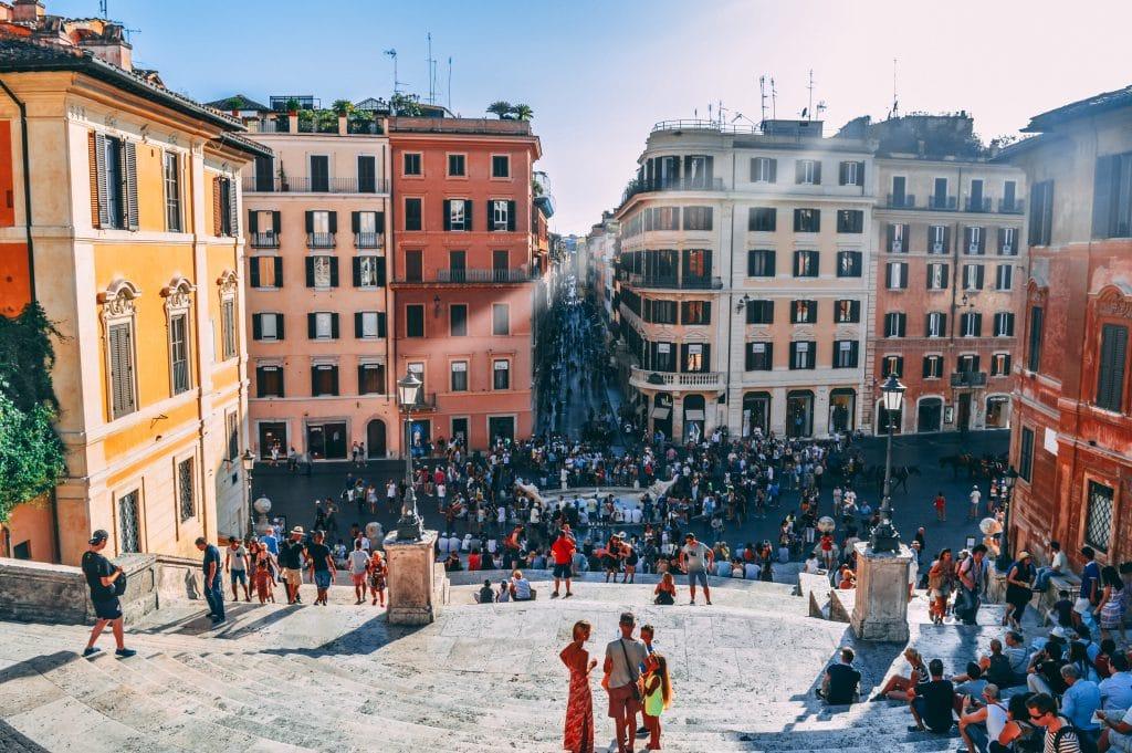 Spaanse trappen Rome hotspot Patricia Stalen Zenuwen
