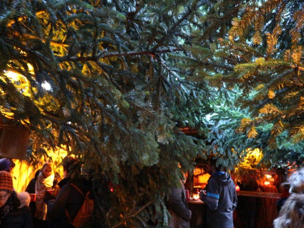 Wunschbrunnen Wald kerstmarkt Hannover