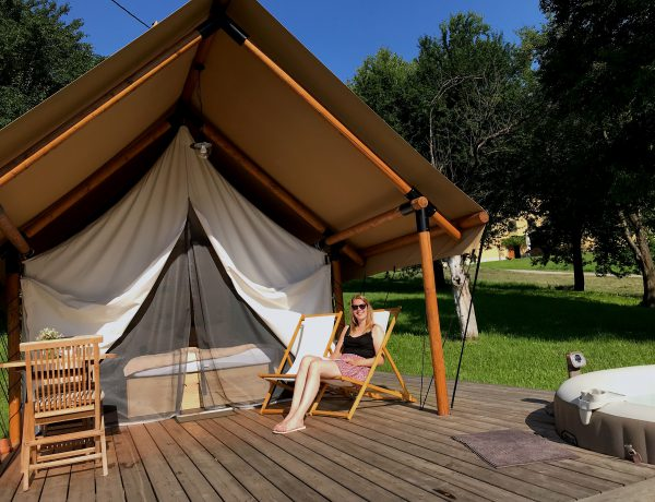 Digital detox voor glamping tent Slovenië